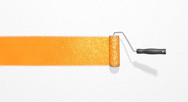 Pinsel Farbe Farbroller Anstrich Neuanstrich Farbstreifen anstreichen orange weiß malern anmalen Werbung Hintergrund Tapetenwechsel überstreichen Illustration grau anstreichen alt Symbol symbolisch bildlich neu Wand streichen Weißen do it yourself Wandfarbe arbeiten Farbeerneuern gestalten paint Roller frische oranger Streifen Raufaser Wand streichen renovieren Renovierung Rolle rollen oranger Streifen Tapete Farbakzent Umzug gestalten Texfreiraum weiss modern Abbildung Grafik